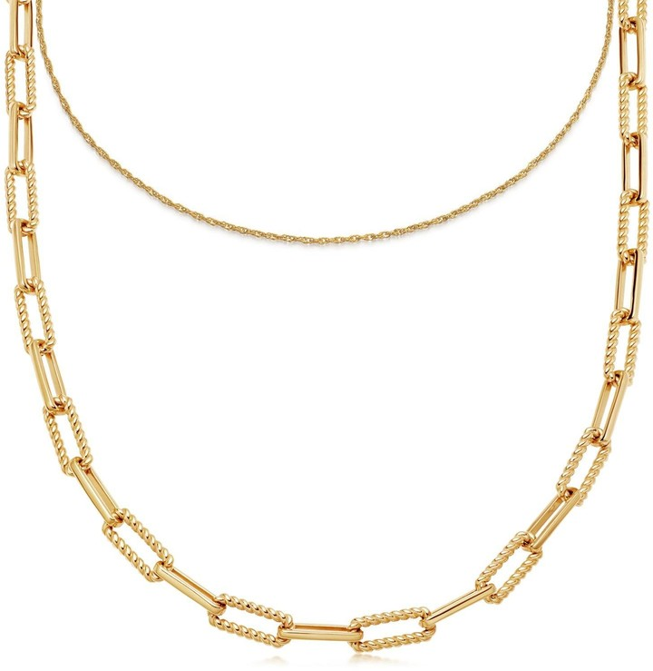 Missoma Gold Coterie Chain Necklace Shopstyle