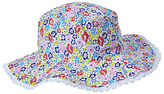 John Lewis Children's Reversible Ciara Floral and Stripe Sun Hat, Multi