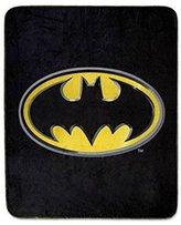 "Batman Emblem Luxury Fleece Throw Blanket with Sewn edge Super Soft 50"" x 60"" 100% Polyester Fiber"