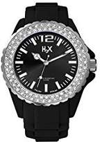 Haurex H2X Women's SS382DN1 Reef Stones Luminous Water Resistant Black Soft Rubber Watch
