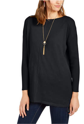 Style&Co. Style & Co Petite Seam-Front Tunic Sweater