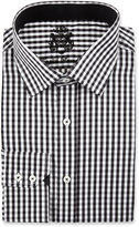 English Laundry Check Long-Sleeve Dress Shirt, Black