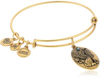 "Alex and Ani Path of Symbols"" Sphinx Expandable Gold Wire Bangle Charm Bracelet"
