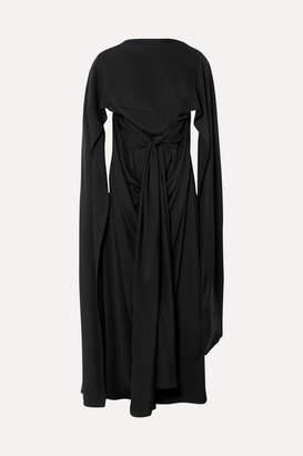 J.W.Anderson Draped Cape-effect Crepe De Chine Maxi Dress - Black