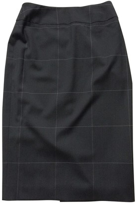 Givenchy Navy Wool Skirt for Women Vintage