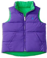 Ralph Lauren Girls' Reversible Down Vest - Sizes 2-6X