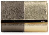 Fendi Rush Mini Metallic Clutch Bag, Gold/Gray
