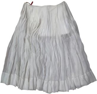 Celine Ecru Cotton Skirt for Women
