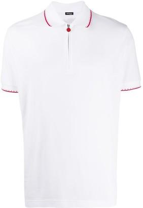 Kiton Zipped Logo Polo Shirt