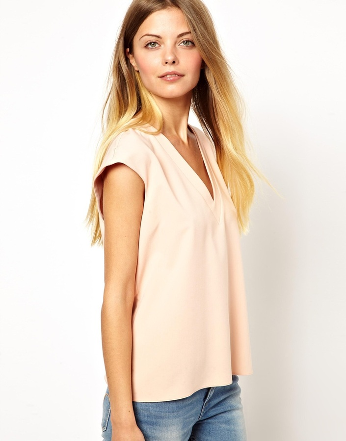 Asos T-Shirt With Plunge Neck
