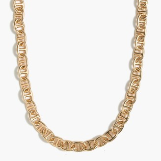 J.Crew Mariner chain one-layer gold necklace