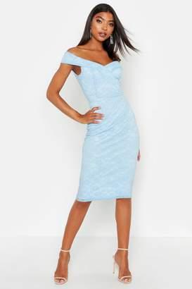 boohoo Tall Lace Sweetheart Neckline Mini dress