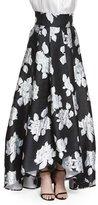 St. John Macro Floral Duchesse Origami Gown Skirt