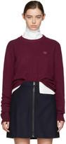 Acne Studios Burgundy Nalon Face Sweater