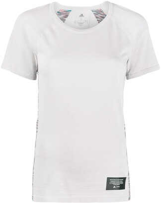 adidas knitted panel T-shirt