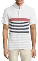 AG Green Label Downey Stripe Printed Polo