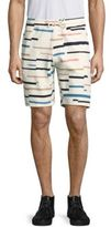 Wesc Marty Broken Stripe-Print French Terry Shorts