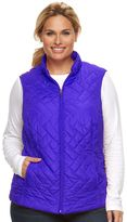 Croft & Barrow Plus Size Classic Quilted Vest