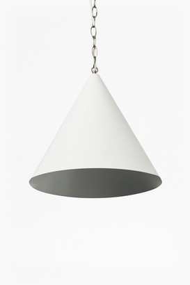 French Connection White Cone Ceiling Light