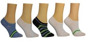 Steve Madden Women's Stripe Sneaker Socks, Pack of 5