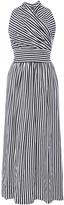 MDS Stripes Donna Halter Wrap Dress