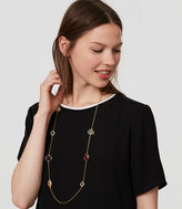 LOFT Multicolored Stone Illusion Necklace
