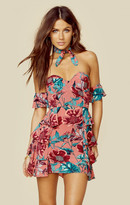 For love and lemons flamenco strapless dress