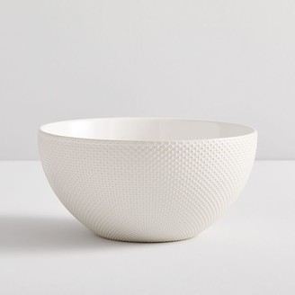 west elm Textured Stoneware Serveware - White