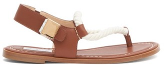 Gabriela Hearst Zephyr Rope-strap Leather Sandals - Tan Multi
