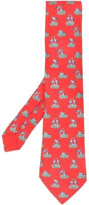 Hermes 2000's Pre-Owned Bird Print Tie