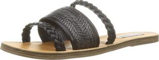 Steve Madden Women's Next Black Slide Sandal 4 UK