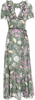 By Ti Mo Camelia Floral-print Mousseline Maxi Wrap Dress