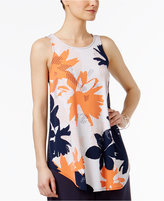 Alfani Mixed-Print Knit Top, Only at Macy's