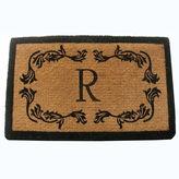 Asstd National Brand Grape Leaf Monogram Rectangular Doormat