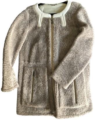 Chloé Grey Shearling Coat for Women