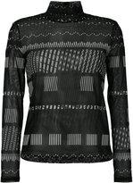 Issey Miyake roll neck printed sweatshirt - women - Polyester - 2