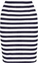 Diane von Furstenberg Walda striped knitted cotton pencil skirt