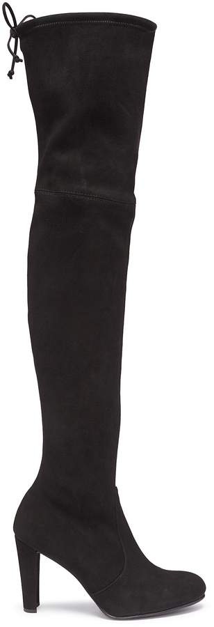 Stuart Weitzman 'Highland' stretch suede thigh high boots