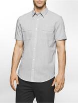Calvin Klein Classic Fit Slub Short Sleeve Shirt