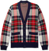Burberry Runway checked Cashmere and Wool-Blend Cardigan