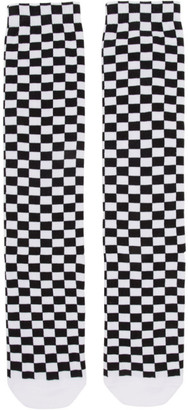 Off-White Black and White Check Socks