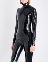 A.F.Vandevorst High-neck latex body