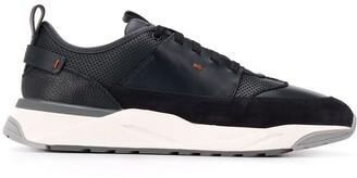 Santoni Panelled Low Sneakers