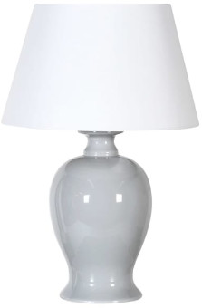 Coach House - Blue and Grey Ceramic Table Lamp with Shade