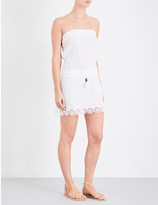 Heidi Klein Ostuni bandeau cotton-blend mini dress