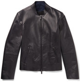 Giorgio Armani - Slim-fit Leather Jacket