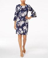 Charter Club Printed Ruffled-Sleeve Dress, Created for Macy's