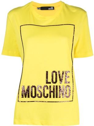 Love Moschino logo-print T-shirt