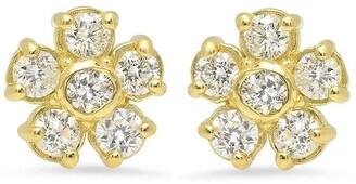 Jennifer Meyer 18kt Yellow Gold Diamond Flower Stud Earrings