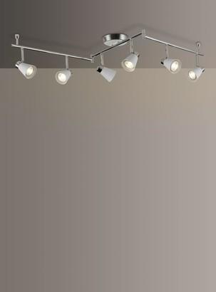 John Lewis & Partners Logan GU10 LED 6 Spotlight Ceiling Bar